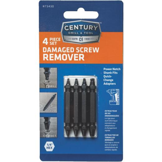 Century Drill & Tool 4-Piece Screw Extractor Set