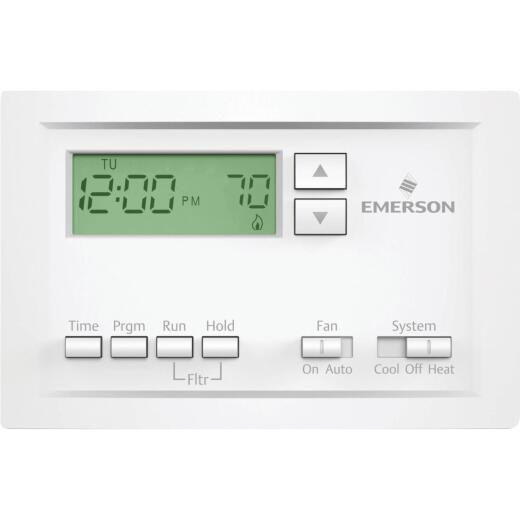 White Rodgers 5-1-1 Day Programmable White Digital Thermostat
