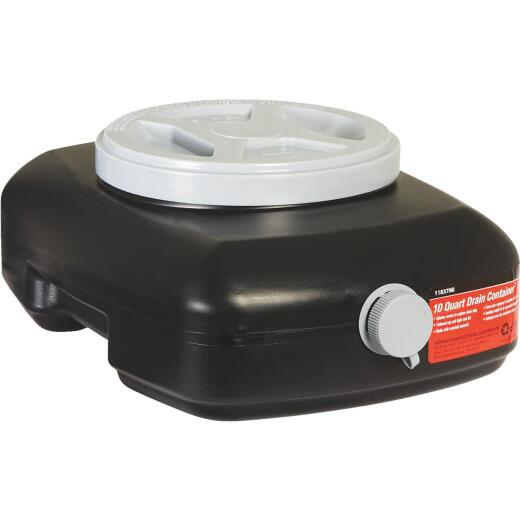 Hopkins Flotool 10 Qt Black Polyethylene Oil Drain Pan