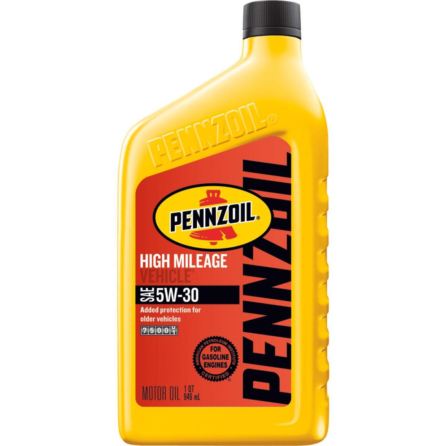 Pennzoil 5W30 Quart High Mileage Motor Oil Image 1
