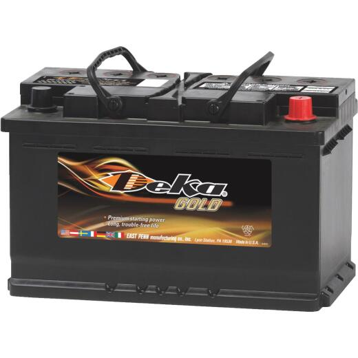 Deka Gold 12-Volt 790 CCA Automotive Battery, Top Post Right Front Positive Terminal