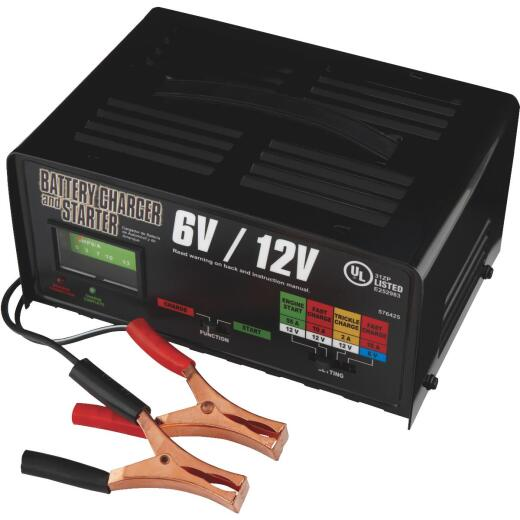 Automatic 6V and 12V 2A/10A/55A Auto Battery Charger