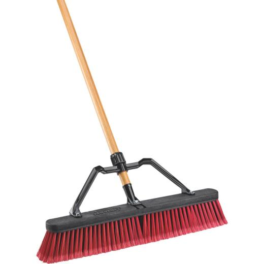 Libman 24 In. W. x 65 In. L. Wood Handle Multi-Surface Industrial Push Broom