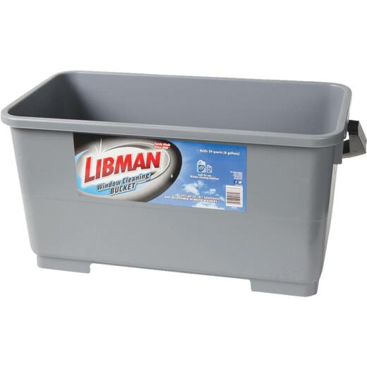 Libman 6 Gal. Gray Window Cleaning Bucket
