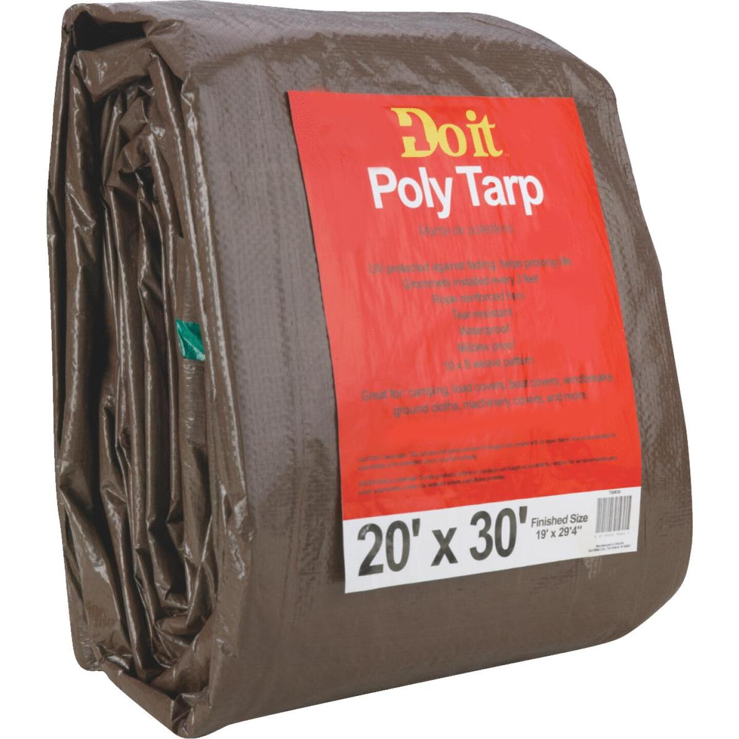 Do it Green/Brown Woven 20 Ft. x 30 Ft. Medium Duty Poly Tarp Image 2