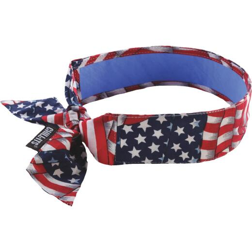 Ergodyne Chill-Its Headband Stars & Stripes Cooling Bandana