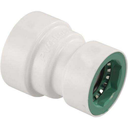 Orbit 3/4 In. x 1/2 In. PVC-Lock Coupling