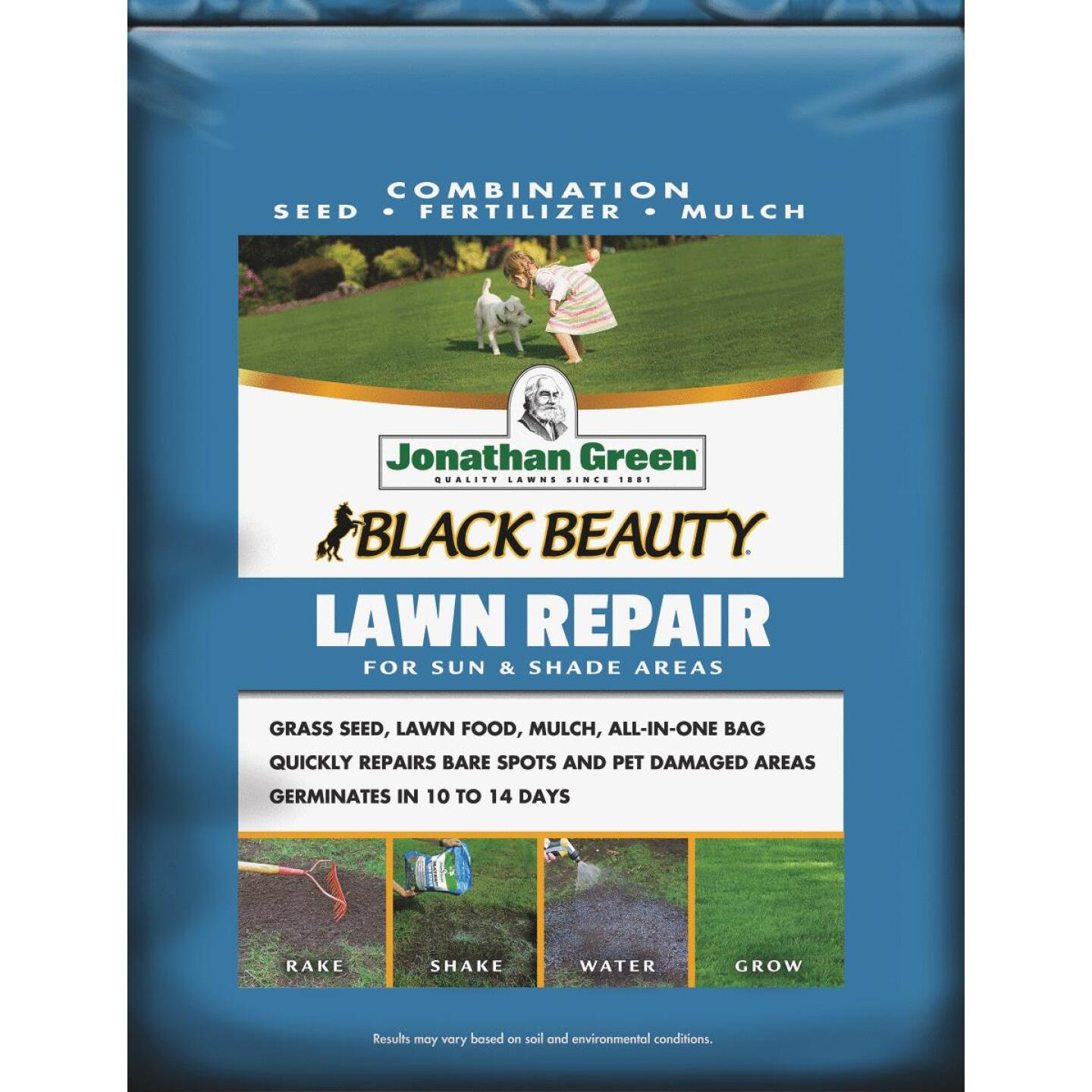 Jonathan Green 13.5 Lb. 300 Sq. Ft. Coverage Black Beauty Ultra Grass Patch & Repair Image 1