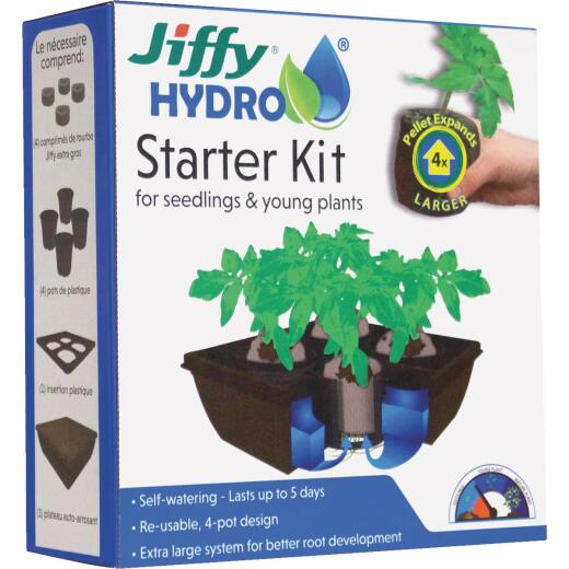 Jiffy Hydro 4-Cell Seedling Hydroponic Starter Kit