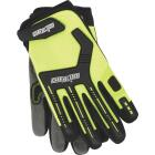 Channellock Men's Medium Synthetic Leather Heavy-Duty Mechanics Glove, Hi-Visibility Yellow Image 1