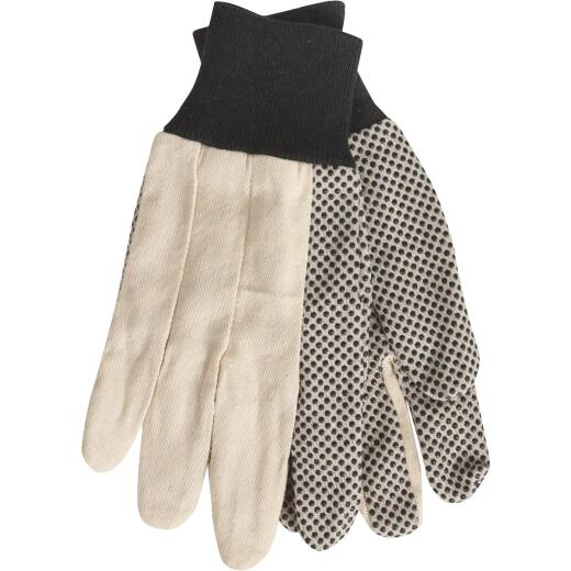Do it Men's Large PVC Grip Cotton Canvas Work Glove