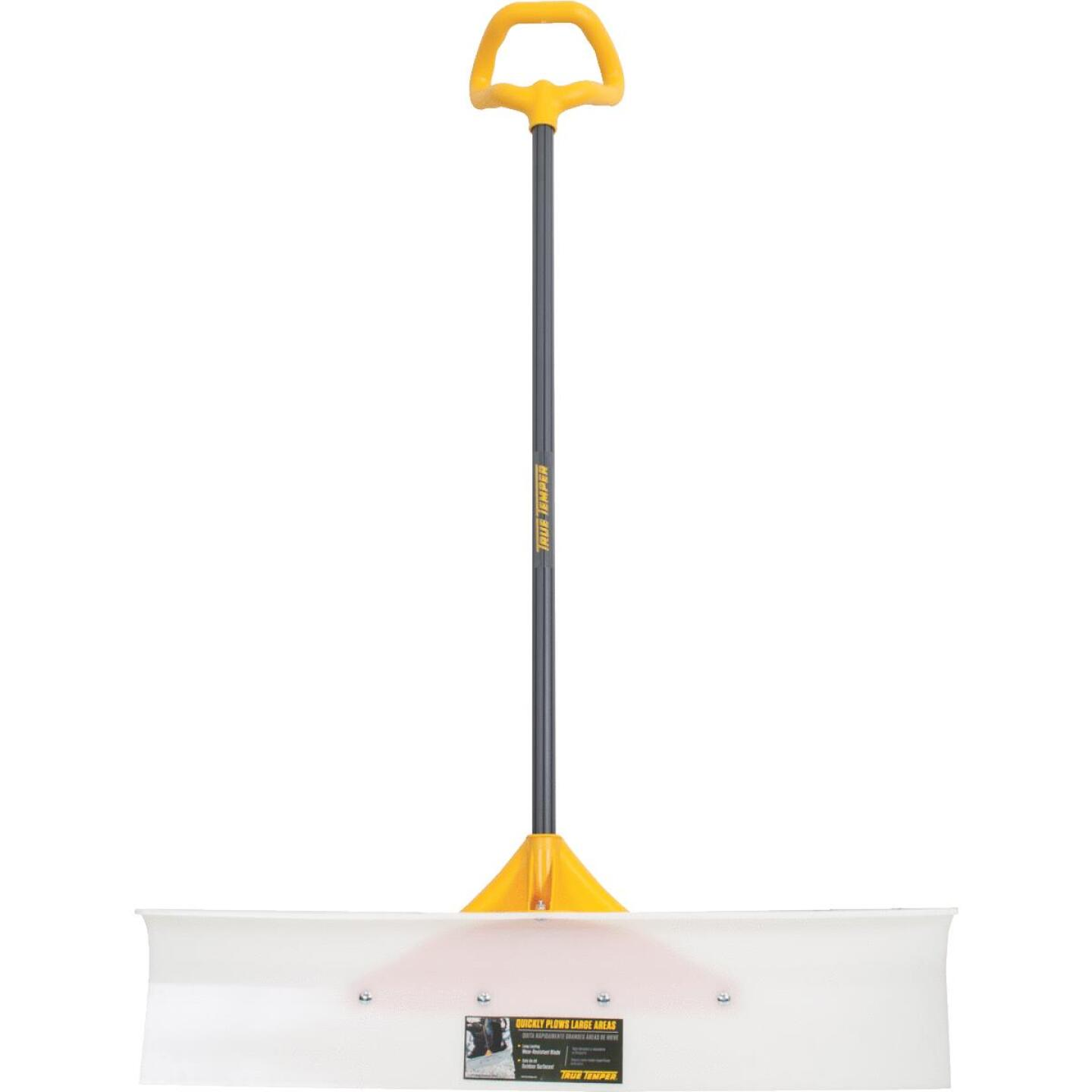True Temper 36 In. Nylon Snow Pusher with 42 In. Steel Handle Image 1