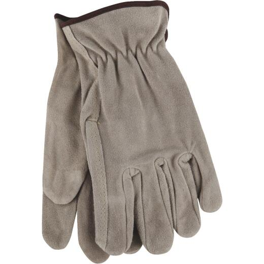Do it Men's Medium Brushed Suede Leather Work Glove
