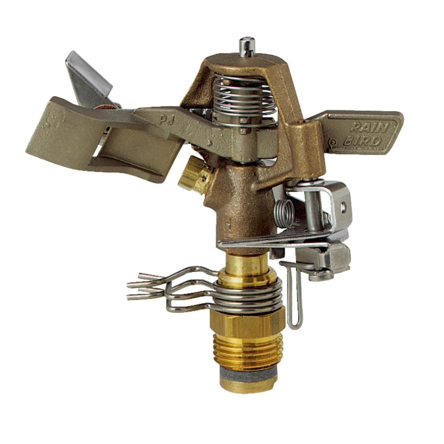 Rain Bird Brass 20 Ft. to 41 Ft. Dia. Riser Mounted Impact Sprinkler Image 1