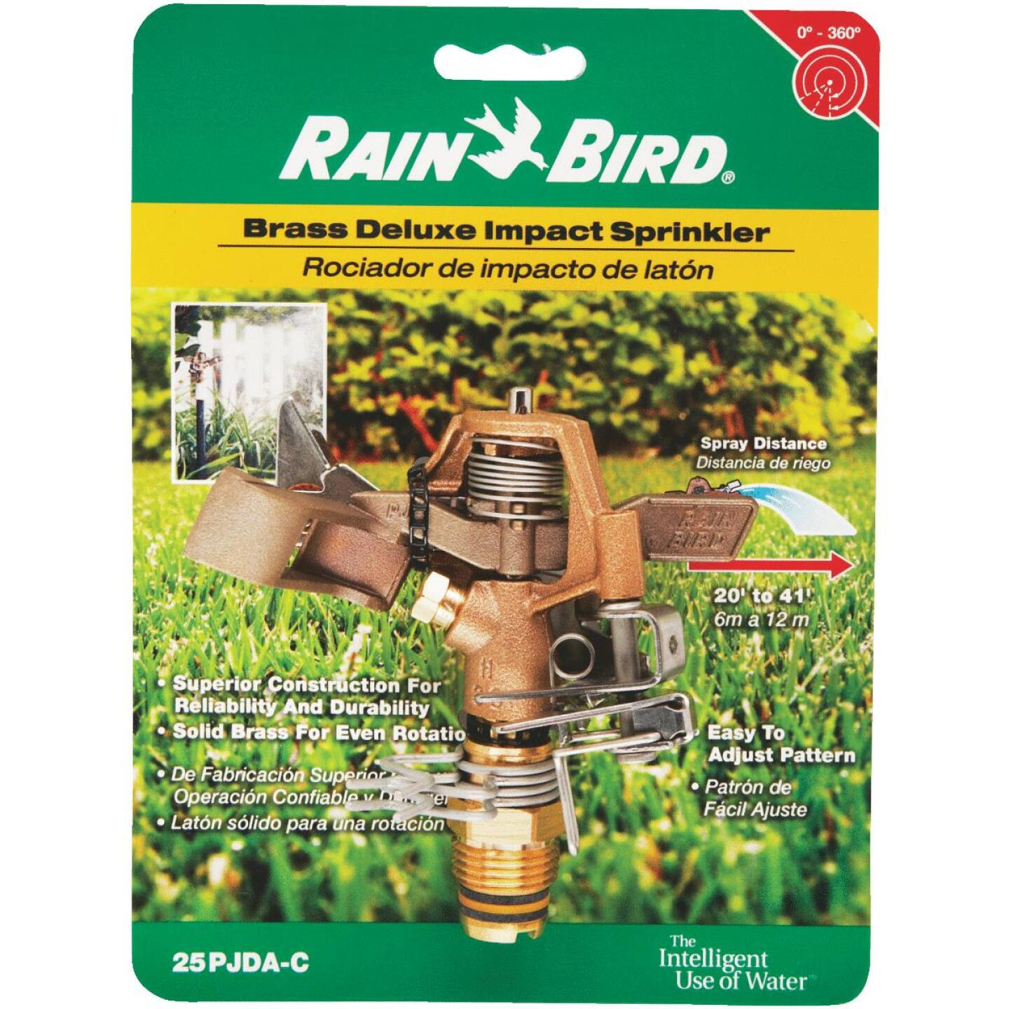 Rain Bird Brass 20 Ft. to 41 Ft. Dia. Riser Mounted Impact Sprinkler Image 2