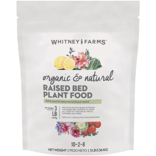 Whitney Farms 3 Lb. 10-2-8 Organic Raised Bed Dry Plant Food