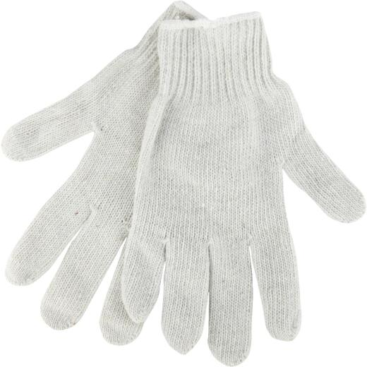 Do it Men's Small Reversible Knit Polyester Mason Glove, White