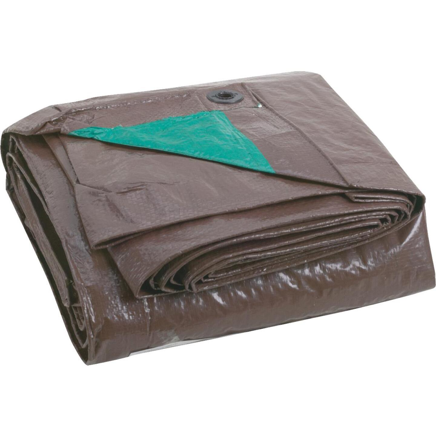 Do it 1 Side Green/1 Side Brown Woven 10 Ft. x 20 Ft. Medium Duty Poly Tarp Image 2