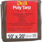 Do it 1 Side Green/1 Side Brown Woven 10 Ft. x 20 Ft. Medium Duty Poly Tarp Image 1