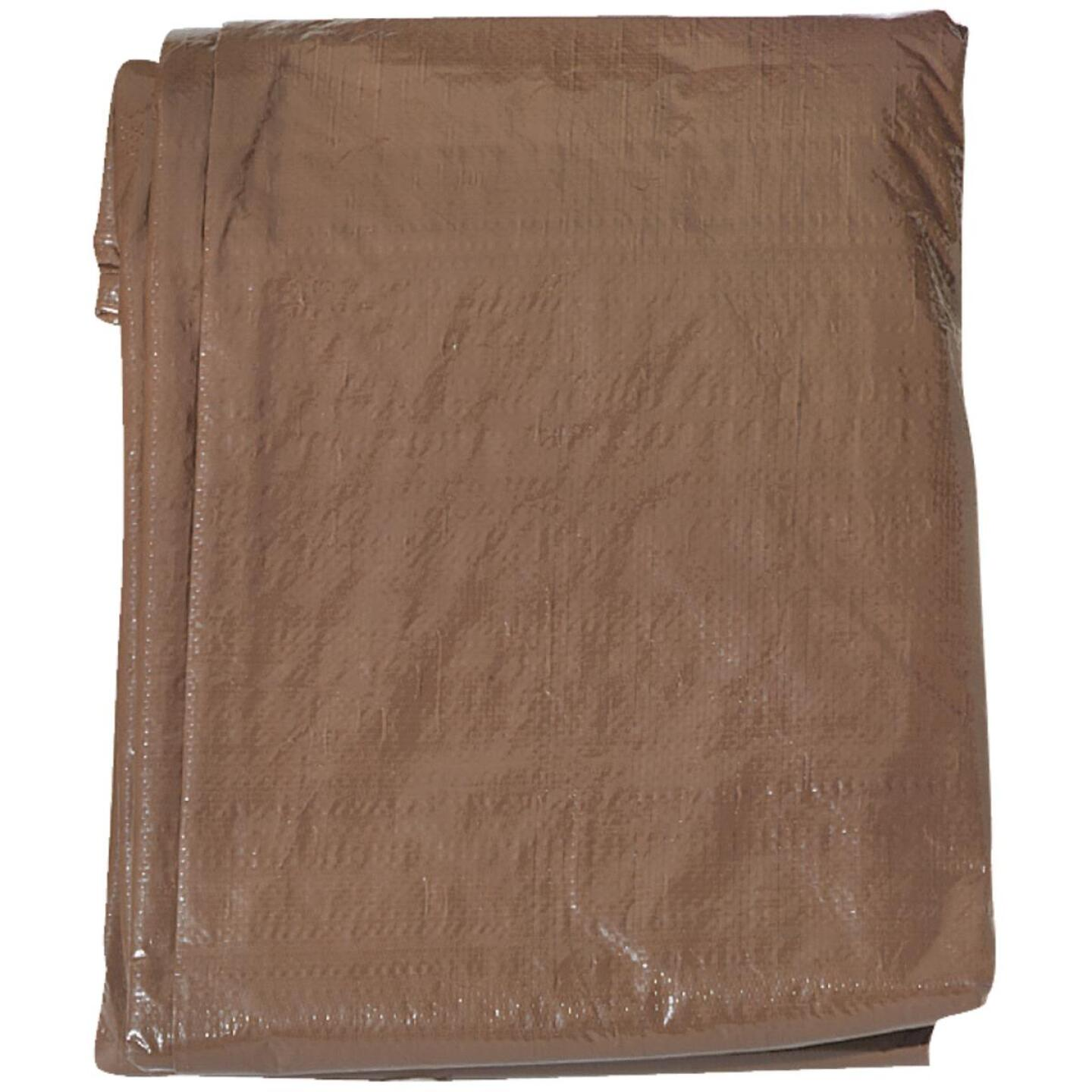 Do it 1 Side Green/1 Side Brown Woven 16 Ft. x 20 Ft. Medium Duty Poly Tarp Image 2