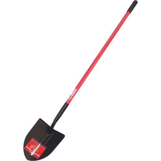 Bully Tools 14-Gauge 48.5 In. Fiberglass Handle Round Point Shovel
