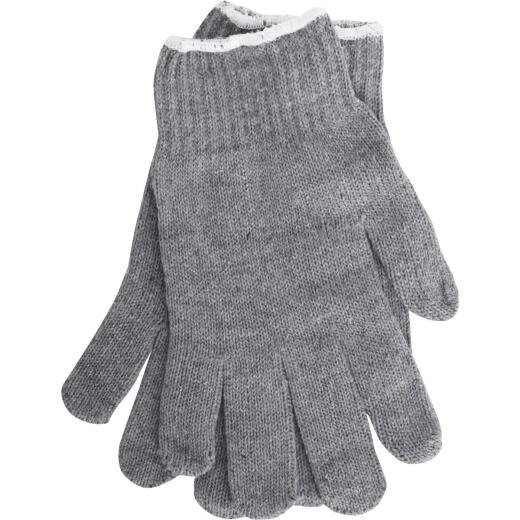 Do it Men's Large Reversible Knit Polyester Mason Glove, Gray