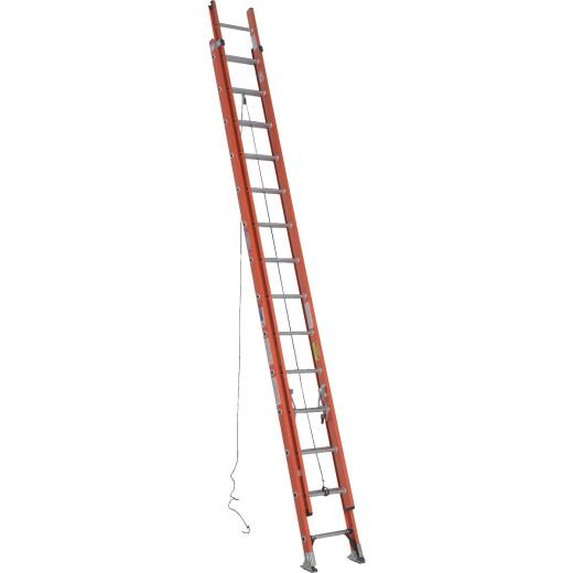 Werner 28 Ft. Fiberglass Extension Ladder with 300 Lb. Load Capacity Type IA Duty Rating