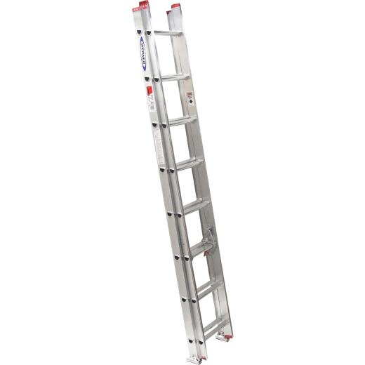 Werner 16 Ft. Aluminum Extension Ladder with 200 Lb. Load Capacity Type III Duty Rating